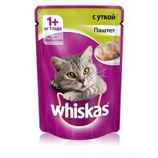 Корм для кошек Whiskas (Вискас) с уткой паштет 85гр