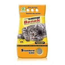 Наполнитель для туалета Super Benek (Супер Бенек) 10 л. Naturalny (Натуральный)