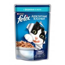 Корм для кошек Felix (Феликс) желе с форелью 85гр
