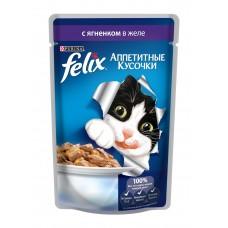 Корм для кошек Felix (Феликс) желе с ягненком 85гр