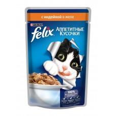 Корм для кошек Felix (Феликс) желе с индейкой 85гр