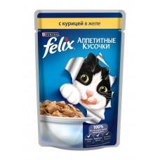 Корм для кошек Felix (Феликс) желе с курицей 85гр