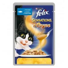 Корм для кошек Felix (Феликс) SENSATIONS в соусе с треской и томатами 85гр