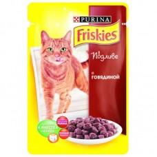 Корм для кошек Friskies (Фрискис) с говядиной в подливе 100гр