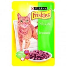 Корм для кошек Friskies (Фрискис) с кроликом в подливе 100гр