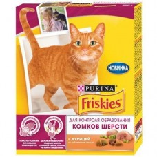 Корм для кошек Friskies (Фрискис) для контроля образ. комков шерсти с курицей и овощами 300гр
