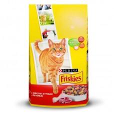 Корм для кошек Friskies (Фрискис) мясное ассорти с мясом, курицей и печенью 1кг (на развес)