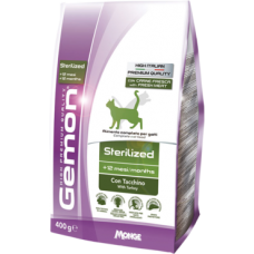 Gemon Cat низкокалорийный корм для стерилизованных кошек (Индейка, рис)