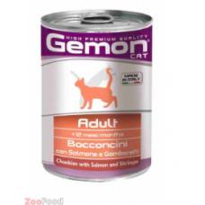 Gemon Консервы Cat Adult Salmon/Shrimps 415гр.