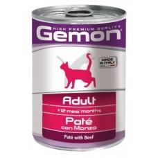 Gemon Консервы Cat Adult Pate Beef 400гр.
