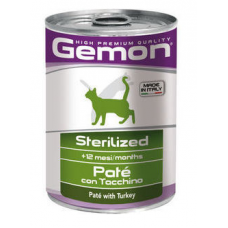 Gemon Консервы Cat Sterilized Pate Turkey 400гр.