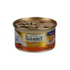 Корм для кошек Gourmet (Гурмэ) Gold (банка) паштет с индейкой 85гр