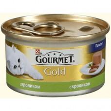 Корм для кошек Gourmet (Гурмэ) Gold (банка) паштет с кроликом 85гр