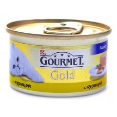 Корм для кошек Gourmet (Гурмэ) Gold (банка) паштет с курицей 85гр