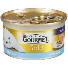 Корм для кошек Gourmet (Гурмэ) Gold (банка) паштет с тунцом 85гр
