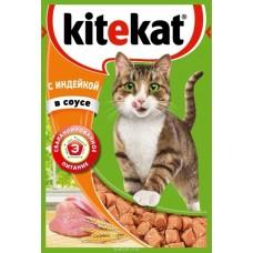 Корм для кошек Kitekat (Китекат) c индейкой в соусе 85гр