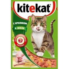 Корм для кошек Kitekat (Китекат) c кроликом в желе 85гр