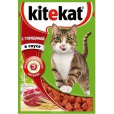 Корм для кошек Kitekat (Китекат) c говядиной в соусе 85гр