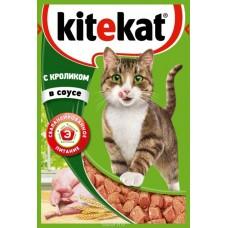 Корм для кошек Kitekat (Китекат) c кроликом в соусе 85гр