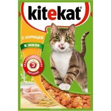Корм для кошек Kitekat (Китекат) c курицей в желе 85гр