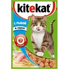 Корм для кошек Kitekat (Китекат) c рыбой в соусе 85гр
