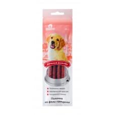 Лакомство для собак  Домашний деликатес. Палочки из филе говядины 45г.