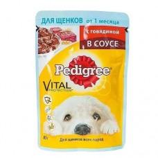 Корм для собак Pedigree (Педигри)  для щенков говядина в соусе 85гр