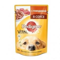 Корм для собак Pedigree (Педигри)  для взрослых собак говядина в соусе 100гр