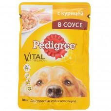 Корм для собак Pedigree (Педигри)  для взрослых собак курица в соусе 100гр