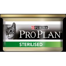 Корм для кошек Pro Plan ( Про План) (банка) с тунцом и лососем для стер.кошек и кастр. котов 85гр
