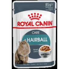 Корм для кошек Royal Canin (Роял Канин) Hairball Care для взрослых кошек (кусочки в соусе) 85гр.