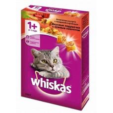 Корм для кошек Whiskas (Вискас) вкусные подушечки с нежным паштетом. Аппетитное ассорти с говядиной и кроликом 350гр