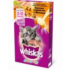 Корм для кошек Whiskas (Вискас) для котят вкусные подушечки с молоком, индейкой и морковью 350гр